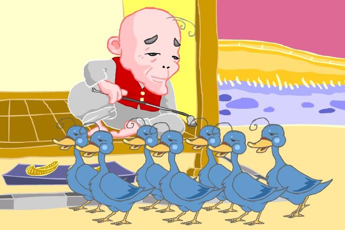 韩语童话故事:愚蠢的老爷爷(下)
